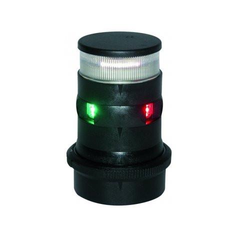 Aqua Signal serie 34 navigatieverlichting/ankerlicht LED driekleur - zwarte behuizing