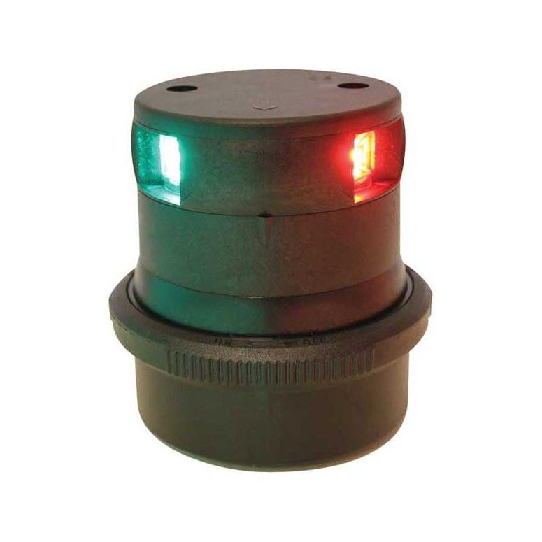 Aqua Signal serie 34 navigatieverlichting LED driekleur - zwarte behuizing