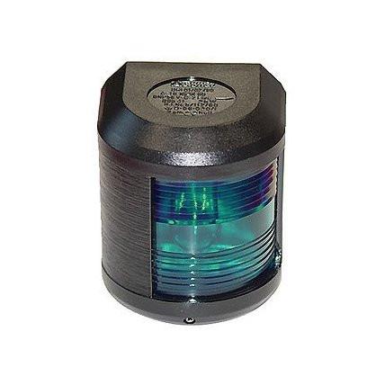 Aqua Signal serie 41 stuurboordlicht - 12V, zwarte behuizing