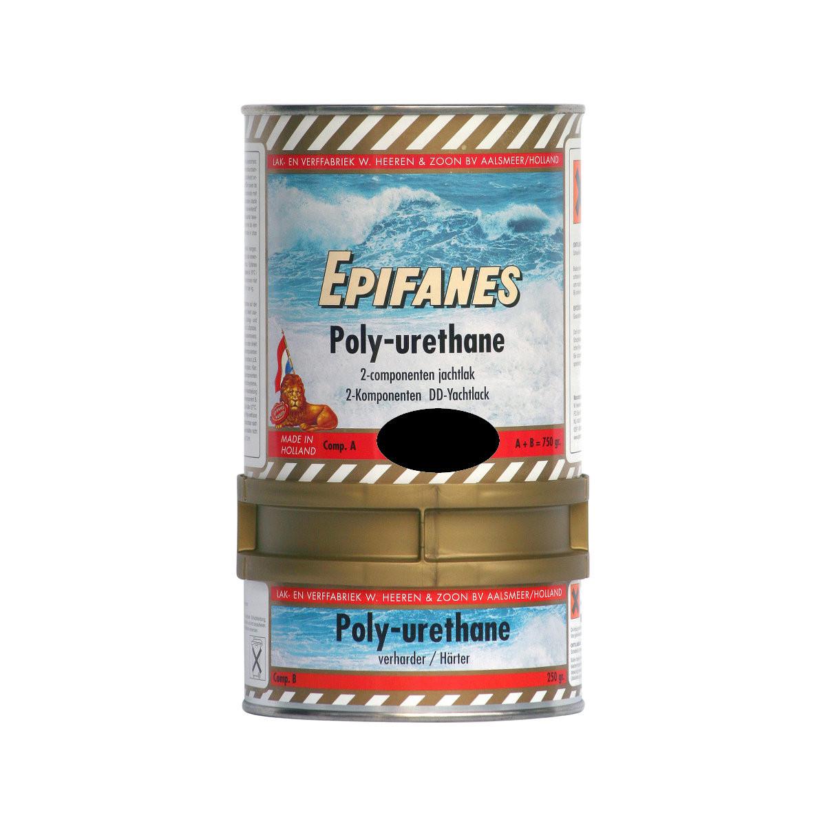 Epifanes poly-urethane DD jachtlak - zwart 801, 750g