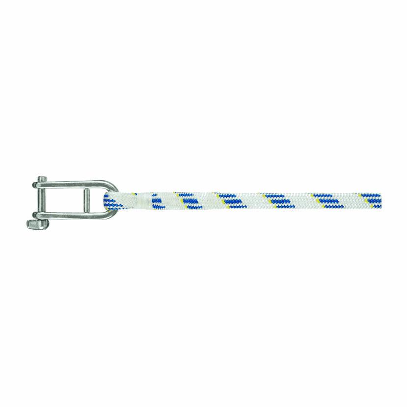 Liros val met sluiting - Liros Dynamic Plus, Dyneema, wit-blauw, 8mm, lengte 30m
