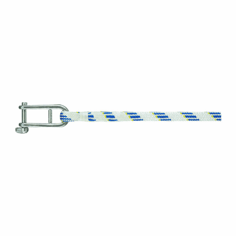 Liros val met sluiting - Liros Dynamic Plus, Dyneema, wit-blauw, 12mm, lengte 40m