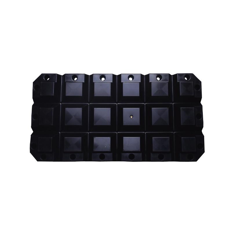 Multifender - 60x30x8x8cm, zwart