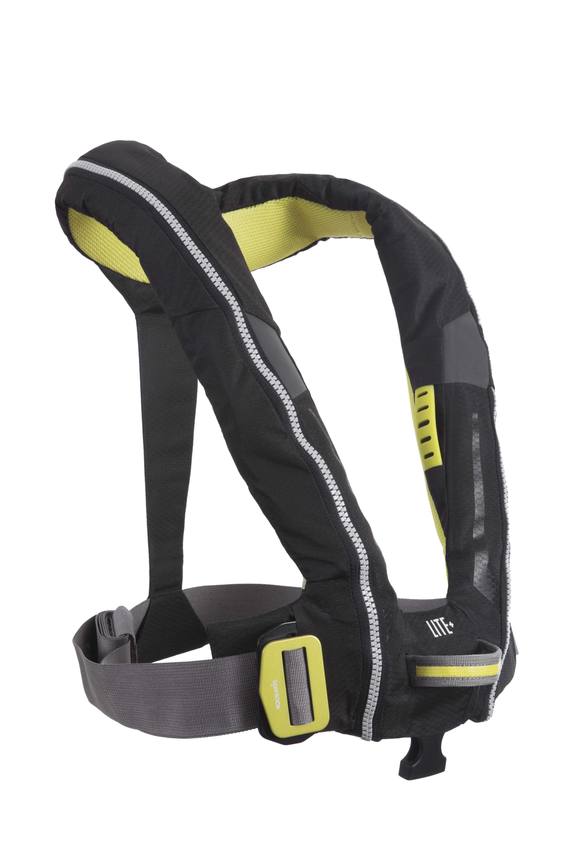 Spinlock Deckvest Lite Plus automatisch reddingsvest 170N met harnas, zwart