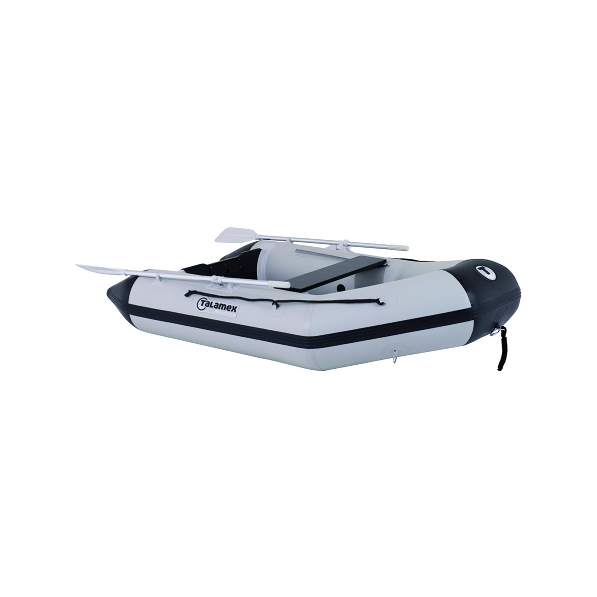 Talamex Aqualine QLA230 opblaasbare rubberboot met opblaasbare bodem, lengte 2,30m, lengte 2,30m, grijs