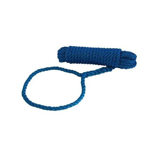 Talamex Landvast met oog - blauw, 12mm, lengte 12m