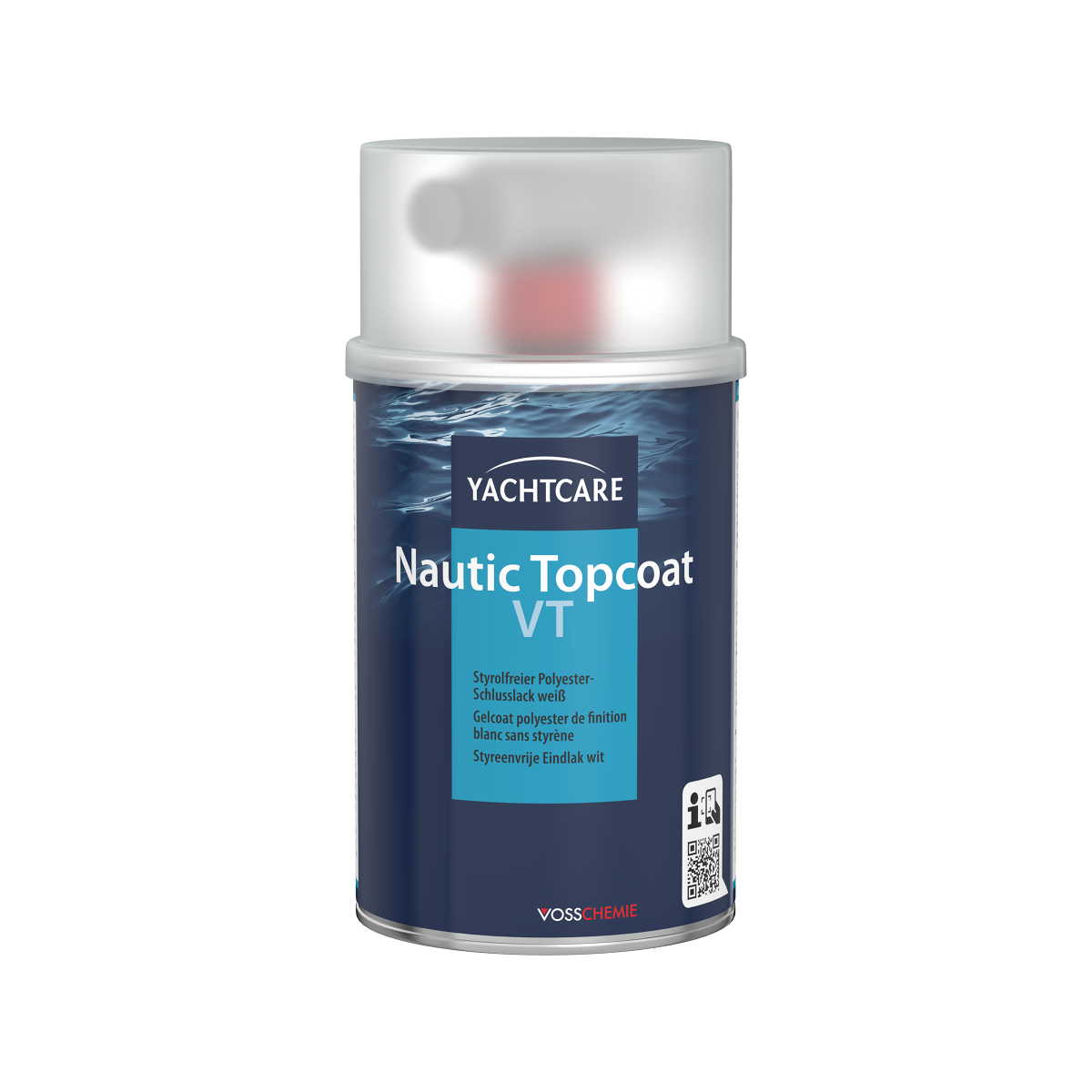 Yachtcare Nautic Topcoat VT styreenvrije eindlak wit - 500g