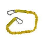 12 zeemijlen elastische levenslijn - 2 karabijnhaken