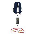 12seemeilen Automatik-Rettungsweste 300N mit Lifebelt, marineblau