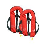 Set van 2: 12skipper handmatige reddingsvest 165N ISO, rood