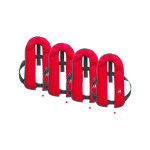 Set van 4: 12skipper automatisch reddingsvest 165N ISO, rood
