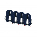 Set van 4: 12skipper automatisch reddingsvest 165N ISO met harnas, marineblauw