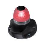 Hella Marine NaviLED 360 signaallicht rood BSH - zwarte behuizing
