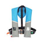 Secumar Ultra 170 automatische reddingsvest met harnas en lifebelt 165N, kleur lichtblauw/grijs