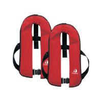 Set van 2: 12skipper automatisch reddingsvest 165N ISO met harnas, rood