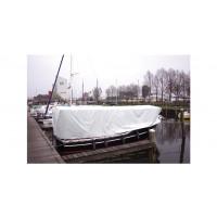 Afdekzeil wit met ogen - 150g, 8x10 meter