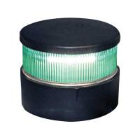 Aqua Signal serie 34 signaallicht groen LED - zwarte/witte behuizing