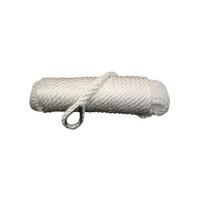 Talamex Ankerlijn met vingerhoed - wit, diameter 10mm, lengte 20m