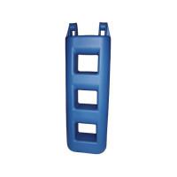 Trapfender - blauw, 3 treden