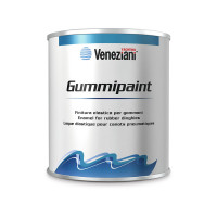 Veneziani Gummipaint lak voor opblaasbare boten - zwart 708, 500ml